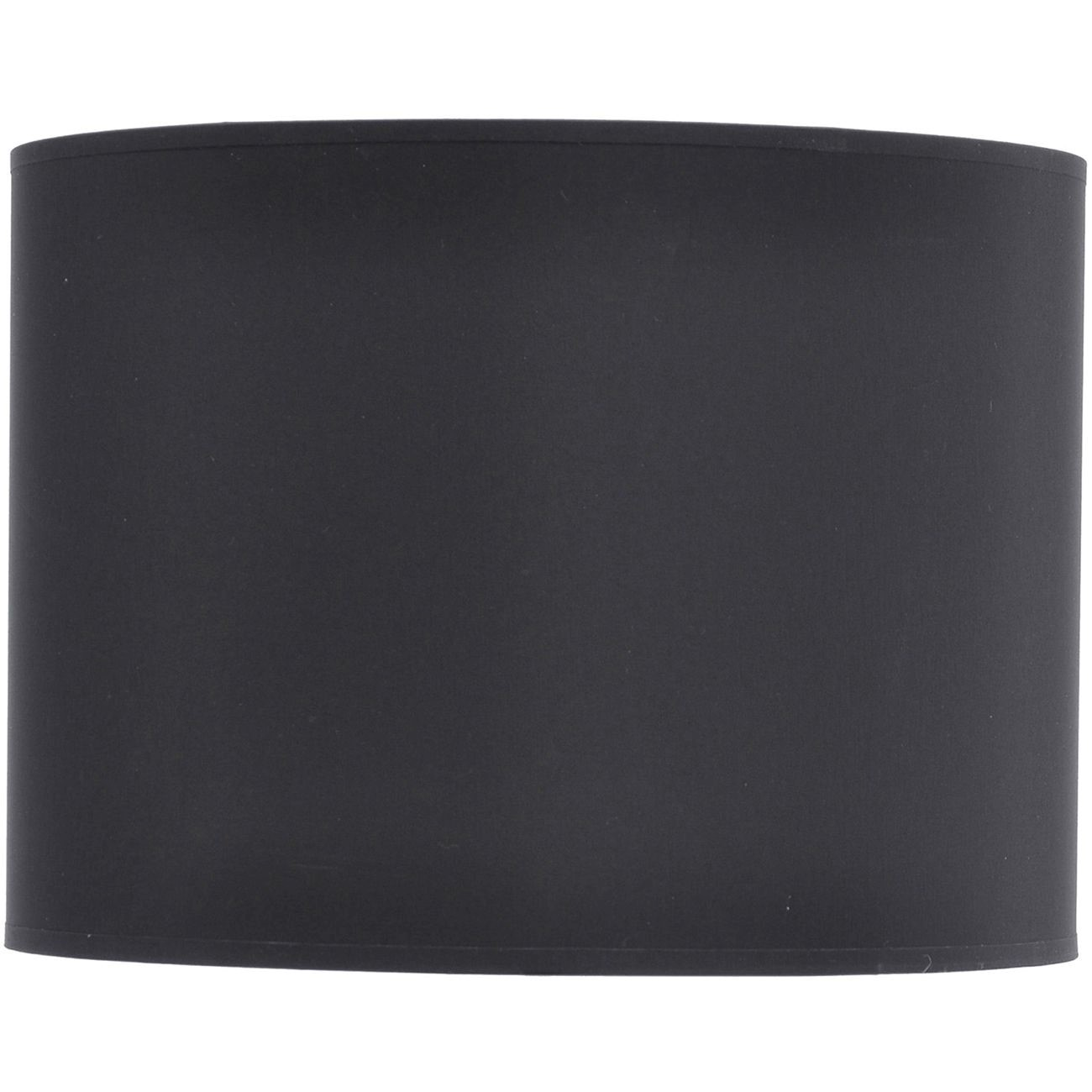 "Drum 16"" shade in black with silver lining"